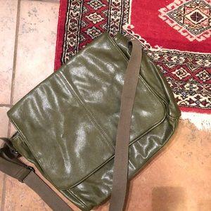 Green Benetton Messenger Bag